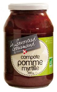 compote pomme myrtille bio
