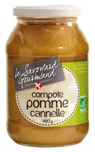 compote pomme cannelle bio