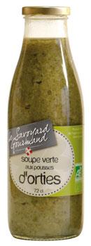 soupe verte aux pousses d'orties bio